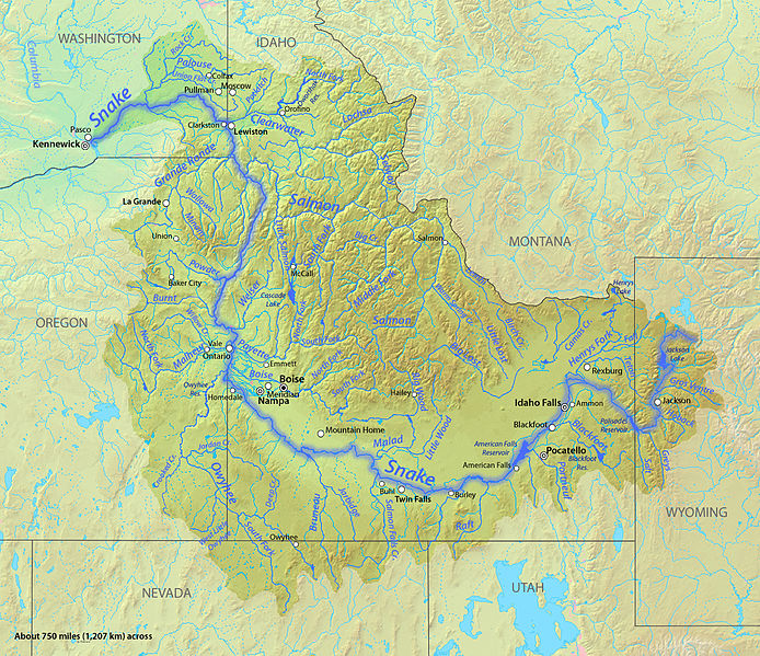 the snake river valley of Idaho