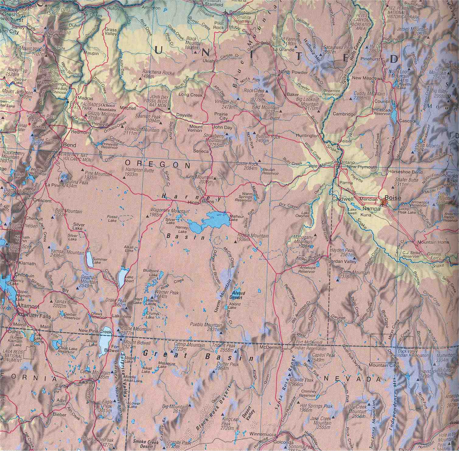double click for larger map of the northern Great Basin